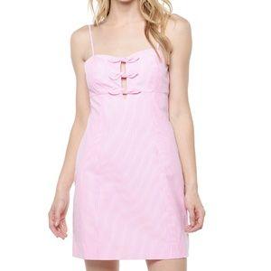 Lilly Pulitzer Petra Pink Striped Seersucker Dress